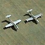 Pair of Aerovodochody(Delphin) L29s at Fox Field (Birds Eye)