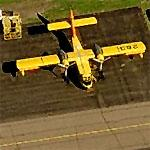 Canadair Fire CL-215 Bomber at Anoka County-Blaine Airport (Birds Eye)