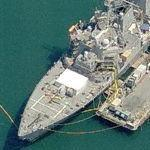 Arleigh Burke-class Destroyer USS Higgins (DDG-76) (Birds Eye)