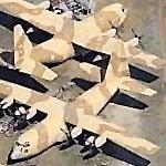 C-130s in Desert Paint at Dobbins AFB (Birds Eye)