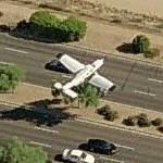 Small plane departing Scottsdale Airport