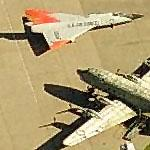 F-106 Delta Dart and C-118 at former Mc Clellan AFB