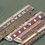 Shaver Transportation barges (Birds Eye)