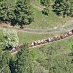 15 inch gauge train on the Redwood Valley Railway (Birds Eye)