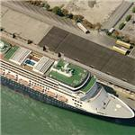 Holland America Lines ship 'Rotterdam' (Birds Eye)