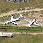 Former Spirit Airlines DC-9, broken up (Birds Eye)