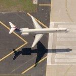 Airplane - Delta Airliner Landing (Birds Eye)