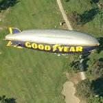 Goodyear Blimp 'Spirit of America' in flight (Birds Eye)