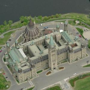 Canadian Parliament Centre Block (Birds Eye)