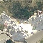 Whoville on the 'Grinch Who Stole Christmas' movie set