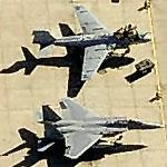 EA-6B and F-15 at Buckley Air National Guard Base (Birds Eye)