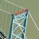Ambassador Bridge (US-Canada) (Birds Eye)