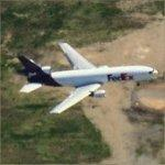 Airplane - FedEx About to Land (Birds Eye)