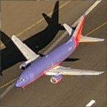 Airplane - Southwest Airlines Lifting Off from Oakland International (Birds Eye)