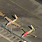 Pair of Fouga Magisters at Paine Field (Birds Eye)
