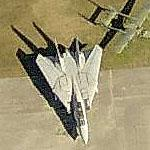 F-14 Tomcat at Birmingham International (Birds Eye)