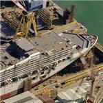 Cruise Ship under construction (Birds Eye)