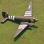 C-47 Skytrain with Invasion Stripes at the Robert J Miller Airpark (Birds Eye)