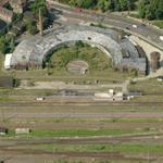 Old Railroad Roundhouse and turntable (Birds Eye)