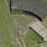 Abandoned turntable and roundhouse (Birds Eye)