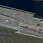Walt Whitman Bridge malfunction (Bing Maps)