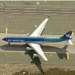 Air Tahiti Nui Airbus 340-300 at LAX (Birds Eye)