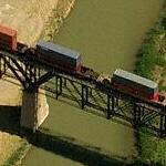 Train crossing the Rio Grande