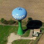 Pleasant Prairie water tower (Birds Eye)
