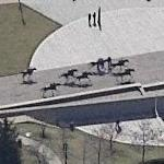 Thoroughbred Park Horse Sculptures (Birds Eye)