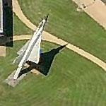 Dassault Mirage on a pole (Birds Eye)