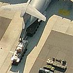 C-5 Galaxy being offloaded (Birds Eye)