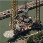 Glomar Labrador jack-up offshore oil rig (Birds Eye)