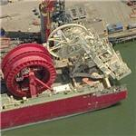 Cal Dive International pipe laying vessel (Birds Eye)