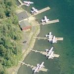 Docked seaplanes