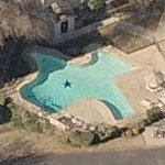 Texas shaped swimming pool (Birds Eye)