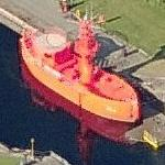 Orange boat (lightship) (Birds Eye)