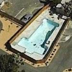 Airplane Shaped Pool at Hesperia Airport
