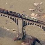 Train in Motion over the James River (Birds Eye)
