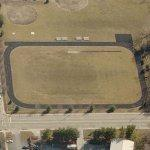 Running track shaped like the Indianapolis Motor Speedway