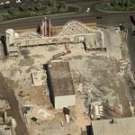 Boardwalk Casino being demolished (Birds Eye)