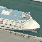 "Grimaldi Lines ship ""Fantastic"" (Birds Eye)"