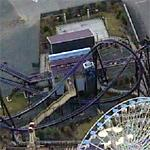 Batman Roller Coaster - Six Flags NE (Birds Eye)