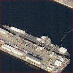 Submarine At Norfolk Navy Shipyard (Birds Eye)