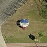 Hot air balloon style advertising inflatible (Birds Eye)