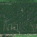 Skelly's 2005 maze (Bing Maps)