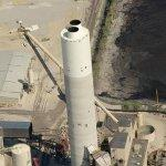 Emissions reducing smokestack (Birds Eye)