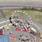 Transportable ferris wheel in Morecambe (Birds Eye)