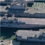 Amphibious assault ships USS Saipan (LHA-2) USS Bataan(LHD-5) & USS Wasp (LHD-1)