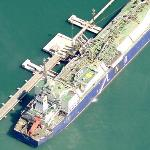 LNG Lerici oil tanker ship (Birds Eye)