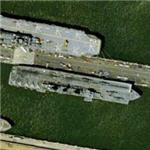 British Invincible class aircraft carrier in the US (Bing Maps)